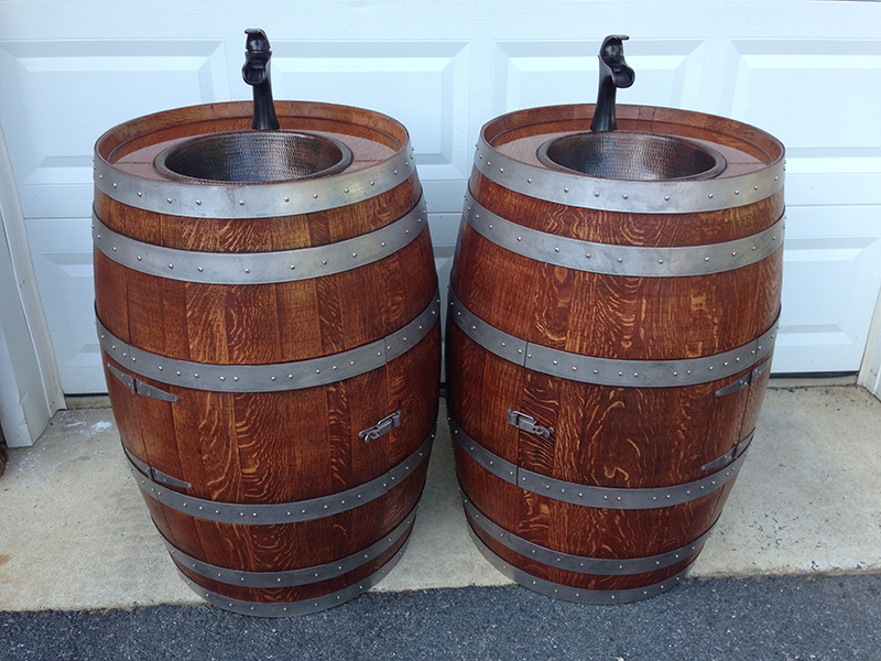 ... Wine Barrel Sinks Made To Order ...